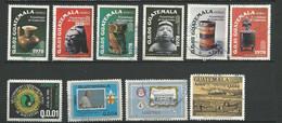 GUATEMALA .poste Aerienne 1978/1981  - 10  Timbres Lot 17 / Oblitéré Tous Differents - Guatemala