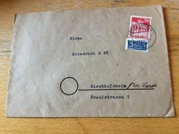 K17 Alliierte Besetzung 1948 Brief Von Lüdenscheid Nach Bischofsheim Kr. Hanau - Zona Anglo-Americana