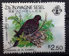 SEYCHELLES,  Oiseau TOURTREL DE ZIL ALDABRA Turtle Dove , 1983 , Obl TB - Grey Partridge