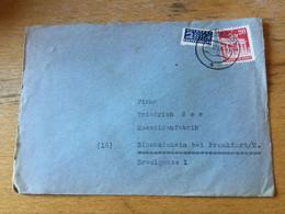 K17 Alliierte Besetzung 1948 Brief Von Darmstadt Nach Bischofsheim Kr. Hanau - Zona Anglo-Americana