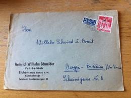 K17 Alliierte Besetzung 1948 Brief Von Eichen Kr. Hanau - Zona Anglo-Americana