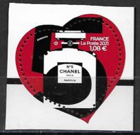 France 2021 Neuf **  N° 5464   Coeur N° 5 CHANEL  à  1,08 €  (  Provenant Du Bloc ) - Unused Stamps