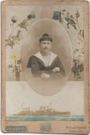 """TOULON-- Photo Originale Alplonse LEENAERTS - Un Matelot De """"Ernest Renan"""" ( Voir Sur Le Bonnet) - Ancianas (antes De 1900)"""
