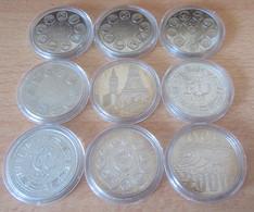 France - 9 Médailles Sous Capsules : Ecu 1980, 1981, 1982, 1995 + Tunnel Sous La Manche 1994 + Euro 1998, 2000 - Andere