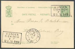 E.P. Carte 5 Cent. Obl. Ambulant VIANDEN/FIEKIRCH F.C.du 12-3-1902 Vers Colmar Berg- 17475 - Ganzsachen