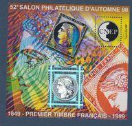 CNEP-1998-N°28** ANNIVERSAIRE DU 1er TIMBRE FRANCAIS .Salon Philathélique DePARIS - CNEP
