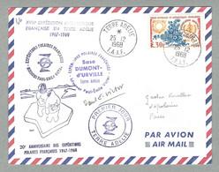 1968 TAAF / FSAT N° 26 SUR PLI ACHEMINÉ PAR LE THALA DAN AVEC OBLITÉRATION TERRE ADÉLIE DU 25.12.1968 - Covers & Documents