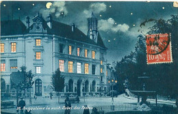 CPA -  ANGOULEME - LA NUIT - HOTEL DES POSTES - Angouleme