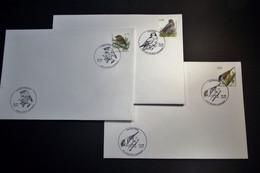 Belgie - Belgique - 2005 - OPB 3389/91 - Vogels A Buzin -  3 Enveloppes Afgestempeld   02.04.2005 Deurne (Antwerp) - 1985-.. Oiseaux (Buzin)