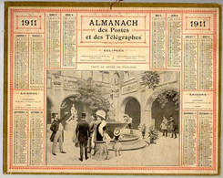 CALENDRIER GF 1911 - Visite Au Musée De Toulouse, Imprimeur Oberthur Rennes - Grossformat : 1901-20