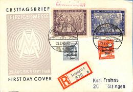Allemagne Zone Soviétique 1948 Lettre De Leipzig - FDC Messe   (G1164) - Soviet Zone