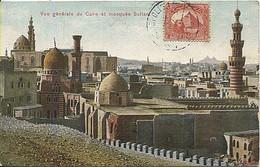 X125148 AFRIQUE EGYPTE EGYPT CAIRO LE CAIRE VUE GENERALE ET MOSQUEE SULTAN - Cairo