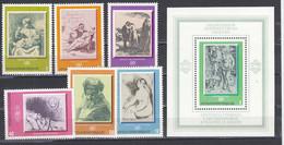 Bulgaria 1975 - Paintings, Mi-Nr. 2411/16+Bl. 58, MNH** - Nuevos