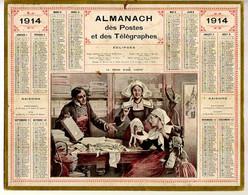 CALENDRIER GF 1913 - Le Choix D'une Coiffe (??Bretagne??), Imprimeur Oberthur Rennes - Big : 1901-20