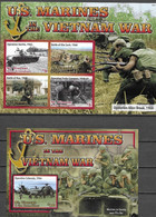 ST. VINCENT AND THE GRENADINES, 2020, MNH, VIETNAM WAR, MARINES IN THE VIETNAM WAR, HELICOPTERS, TANKS,  SLT+S/S - Autres