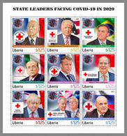 LIBERIA 2021 MNH State Leaders Facing Covid-19 In 2020 Staatsoberhäupter Gegen Covid-19 M/S - OFFICIAL ISSUE - DHQ2111 - Disease