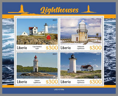 LIBERIA 2021 MNH Lighthouses Leuchttürme Phares M/S - OFFICIAL ISSUE - DHQ2111 - Lighthouses