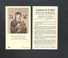 STEENDORP - DEVOTIEPRENTJE - GEDACHTENIS DER H. MISSIE EE.PP. GEEREBAERT + DEBAST- PAST. GOEDERTIER - 1939   (DV 026) - Devotion Images