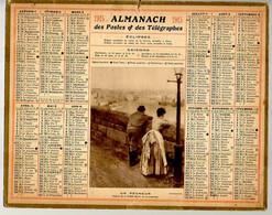 CALENDRIER GF 1915 - Un Pécheur (tableau De Zorn), Imprimeur Oberthur Rennes - Grossformat : 1901-20