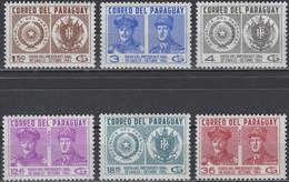 Paraguay - Set Of 6 - Visit Of French President De Gaulle - Mi 1365~1370 - 1964 - Paraguay