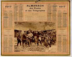 CALENDRIER GF 1917 - Zouaves Mitrailleurs Sur Le Front, Imprimeur Oberthur Rennes - Big : 1901-20