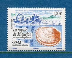 ⭐ Saint Pierre Et Miquelon - YT N° 884 ** - Neuf Sans Charnière - 2007 ⭐ - Unused Stamps