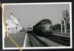 PHOTO  GARE FLORENVILLE  TYPE 52 + AUTORAIL TT - Florenville