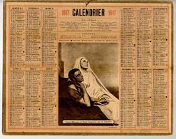 CALENDRIER GF 1915 - Sainte Monique Et Saint Augustin Par A. Scheffer, Imprimeur Oberthur Rennes - Big : 1901-20