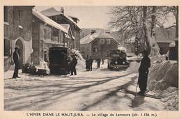 3 CPA Du Jura : Lamoura, Santans, Fraisans. Bon état. 3 Scan. - Other Municipalities