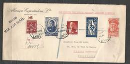 BRUXELLES-LISBONNE - Sabena 5/4/1946 - Timbres Portugal - Covers & Documents