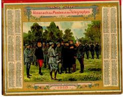 CALENDRIER GF 1918 - Décoration D'Aviateurs, Imprimeur Oberthur Rennes (calendrier Double Couverture) - Big : 1901-20