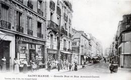 94   SAINT MANDE  LIBRAIRIE  PAPETERIE  GRANDE RUE ET  RUE ARMAND CARREL - Saint Mande