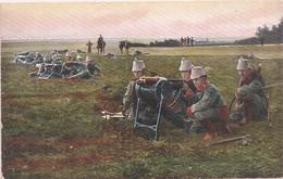 CPA - Armée Allemande - Sections De Mitrailleuse - Oorlog 1914-18