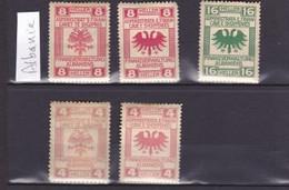 Lot De 5 Fiscaux ALBANIE - Albania