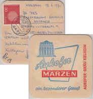 BRD - 30 Pfg. Europa Bierdeckel Aukofer Bräu Kelheim Karte Sattelpeilnstein 1970 - Sin Clasificación