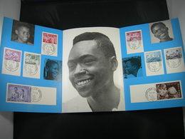 """BELG.1960 1139/1146 FDC Feuillet De La Poste Fr. :  """" Indépendance Du Congo/Onafhankelijkheid Van Congo"""" - 1951-60"""