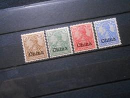 DR Mi 15a*/16*/17**/18(*) - 3/5/10/20Pf - Deutsche Auslandpostämter (CHINA) 1901 - Mi 15,00 € - Offices: China