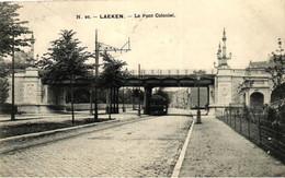 P760 LAKEN : Pont Colonial, Tram, Gelopen Kaart - Piazze