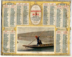 CALENDRIER GF 1919 - La Fille Du Passeur, Imprimeur Oberthur, (Almanach PTT, édition Orphelinat Agent & Ouvrier) - Big : 1901-20