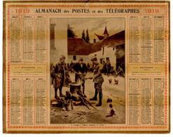 CALENDRIER GF 1919 - à L'étape, Officier Goutant La Soupe, Imprimeur Oberthur Rennes - Big : 1901-20