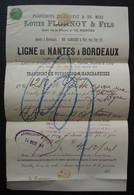 1891 Bordeaux Albrecht & Fils Paquebots, Ligne De Nantes à Bordeaux Agent De Louis Flornoy à Nantes, Joli Document - 1877-1920: Periodo Semi Moderno