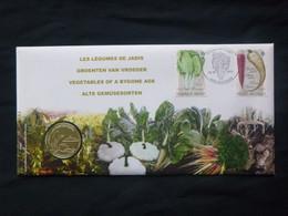 "BELG.2011 4107 & 4108 Numisletter TB, Muntbrief : "" Les Légumes De Jadis-groenten Van Vroeger "" - 2011-..."