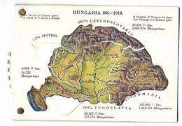 HONGRIE CARTE A SYSTEME LES PROVINCES Au Traité De Trianon 1918 CPA 3 SCANS - Hungary