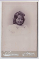 ANTWERPSCHE ADEL  FOTOGRAAF  KRIEGSMANN  RUE DU CHENE 5   2 SCANS   16.5 X 10.5 CM - Ancianas (antes De 1900)