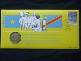 """BELG.2010 4047 Numisletter TB, Muntbrief : """" 50 Jaar Congo 50 Ans """" - 2001-10"""