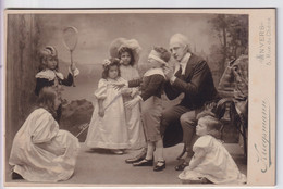 ANTWERPSCHE ADEL  FOTOGRAAF  KRIEGSMANN  RUE DU CHENE 5   2 SCANS   16.5 X 10.5 CM - Old (before 1900)