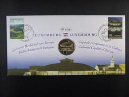 "BELG.2007 3676 & 3677 Numisletter TB, Muntbrief : "" Luxembourg-Luxemburg "" - 2001-10"