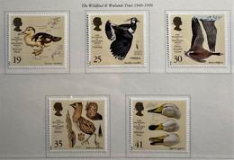 GRAN BRETAGNA 1996 WILDFOWL & WETLANDS TRUST  SERIE MNH UNIF. 1859/63 - Nuovi
