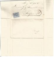 Brief Met Zegel N° 19 Met Puntafstempeling N° 52 Van Hertogenbosch 1877 Verzonden Naar Rossum . - Non Classés