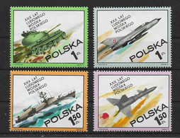 Polen 1973 Militär Mi.Nr. 2275/78 Kpl. Satz ** - Ongebruikt
